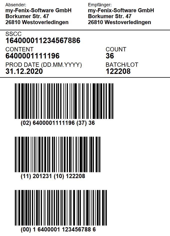 GS1-SSCC-Label
